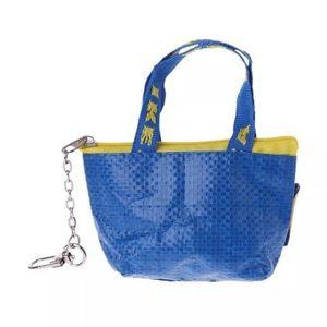 IKEA mini shopper bag charm, key charm, keychain